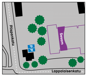 Senaatti Sesam Kuopio pysäköintipaikat