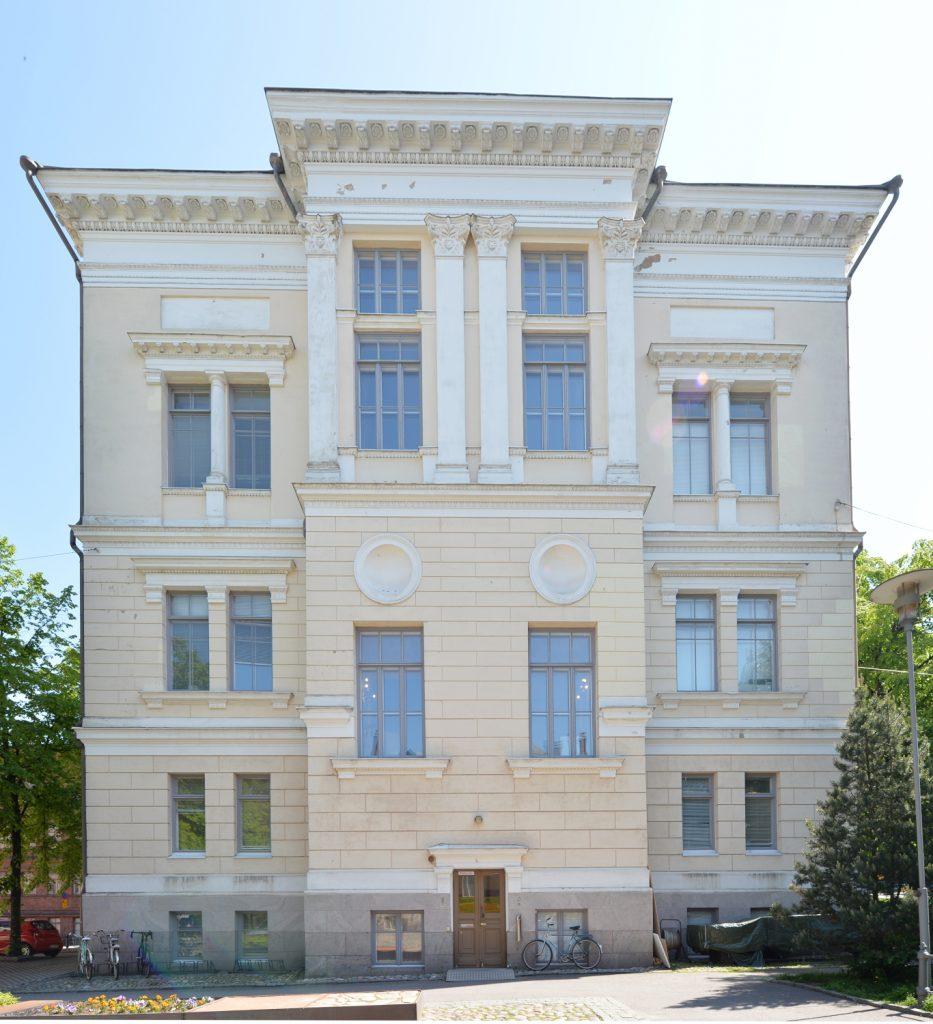 Arkkitehtuurimuseo. Kasarmikatu 24, Helsinki. Takajulkisivu