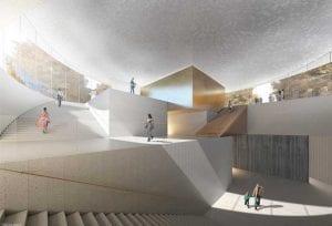 Havainnekuva Kansallismuseon lisärakennuksesta.