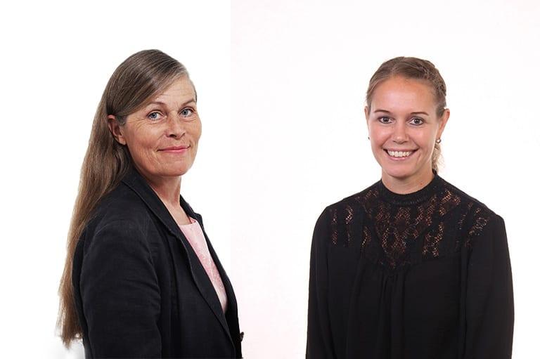 Riitta Sirén ja Karin Hukkanen.