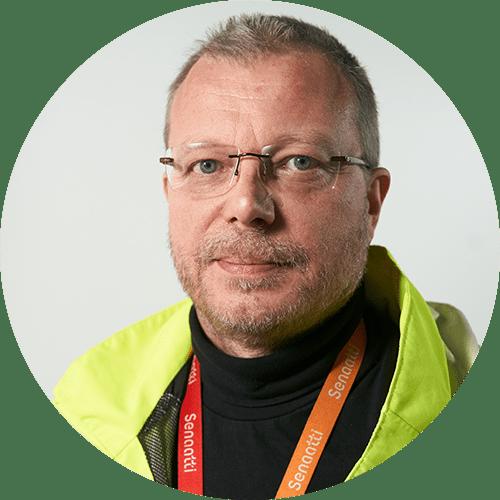 Senaatin sisäolosuhteiden erityisasiantuntija Risse Koponen.