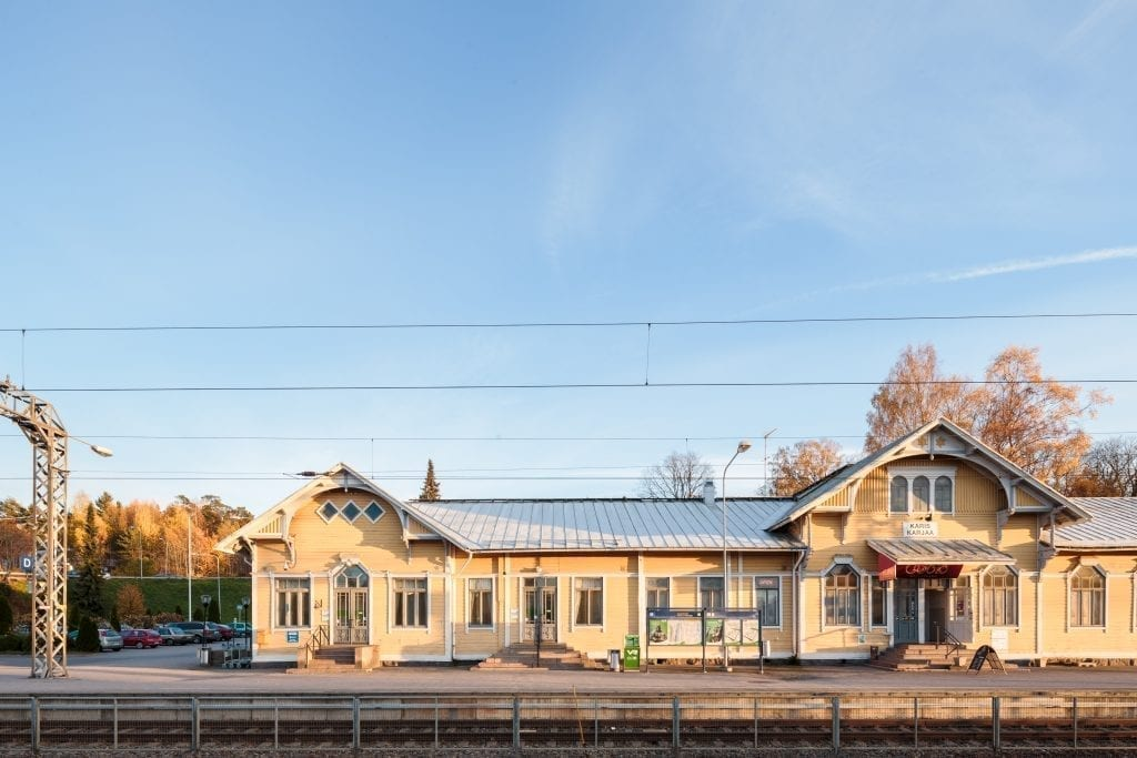 VR 20131016 Karjaan rautatieasema, Karjaa