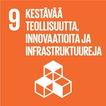 9. Kestävää teollisuutta, innovaatioita ja infrastruktuureja